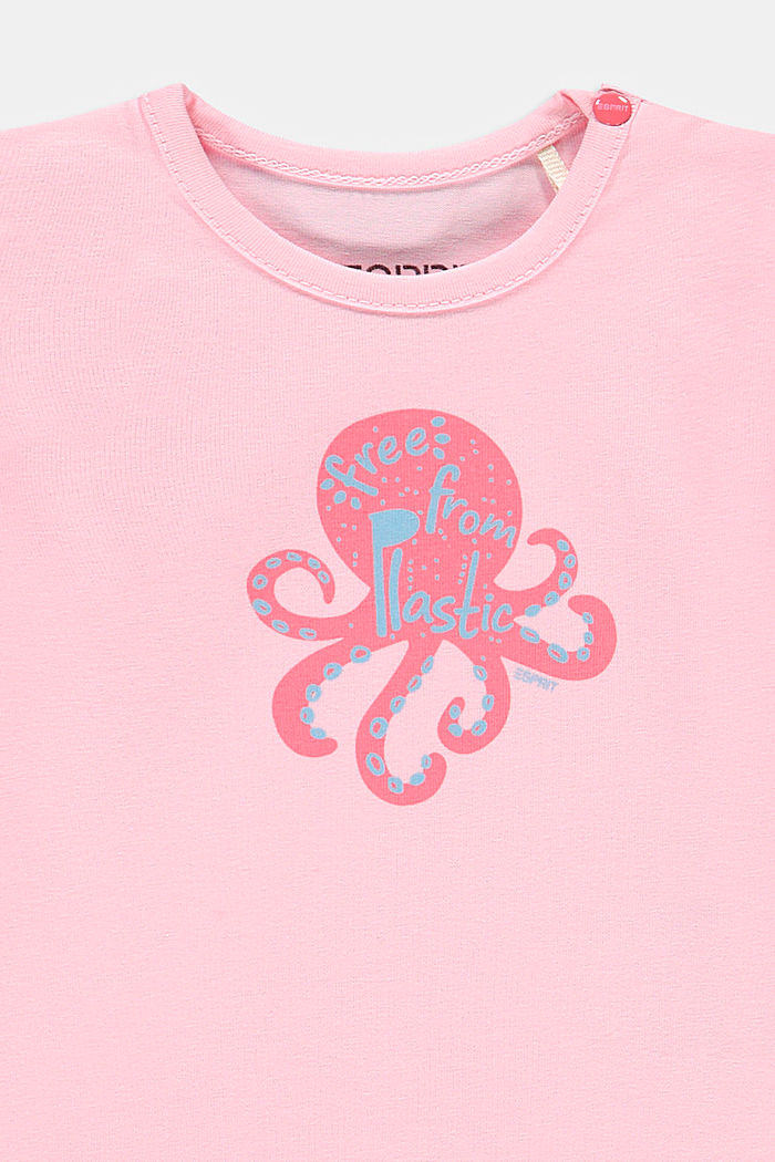Long sleeve T-shirt with an octopus print, organic cotton, BLUSH, detail image number 2