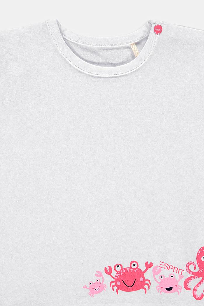 T-shirt met print, biologisch katoen, WHITE, detail image number 2