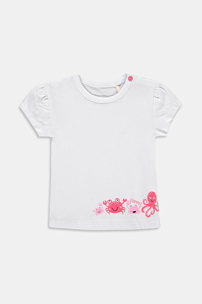 Motif print T-shirt made of organic cotton
