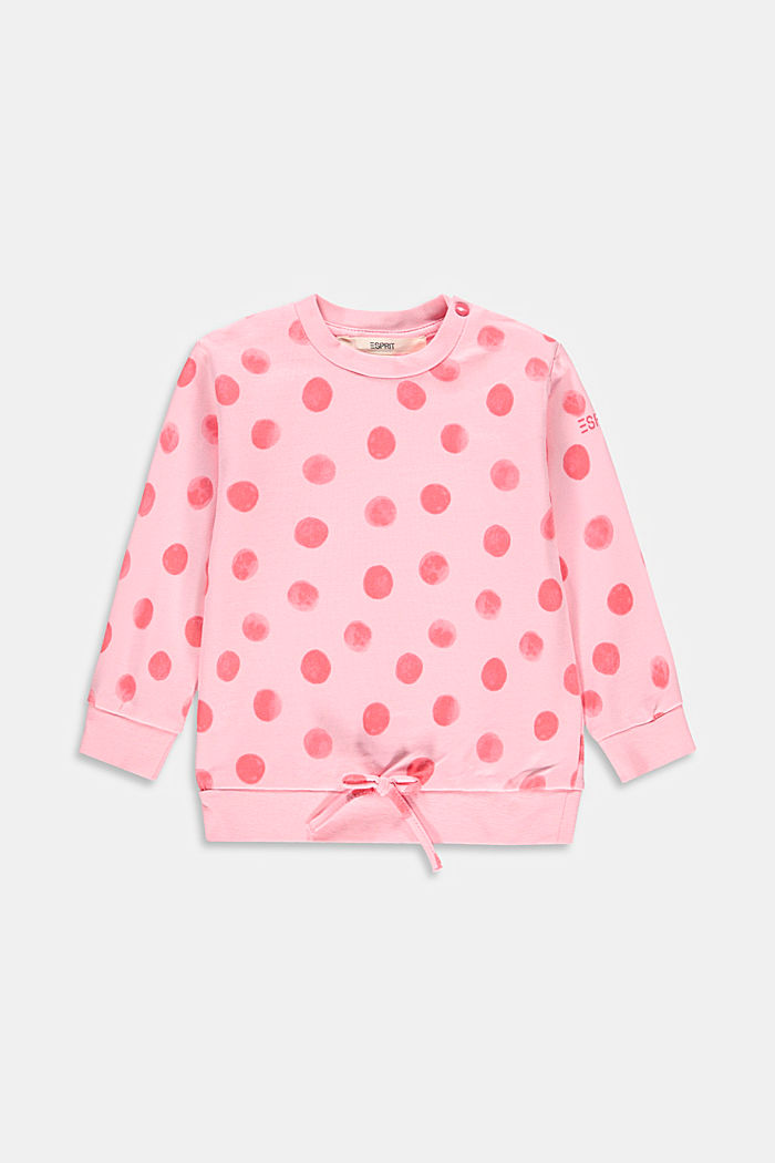 Sweatshirt made of 100% organic cotton, BLUSH, overview