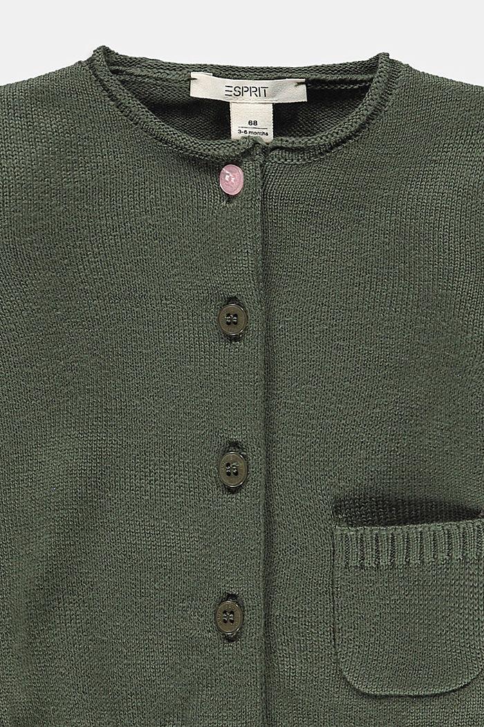 Cardigan aus 100% Bio-Baumwolle, DARK KHAKI, detail image number 2