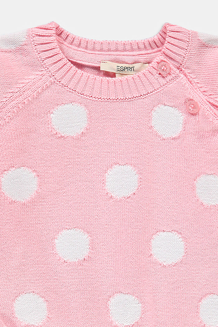 Jacquard jumper in 100% organic cotton, BLUSH, detail image number 2
