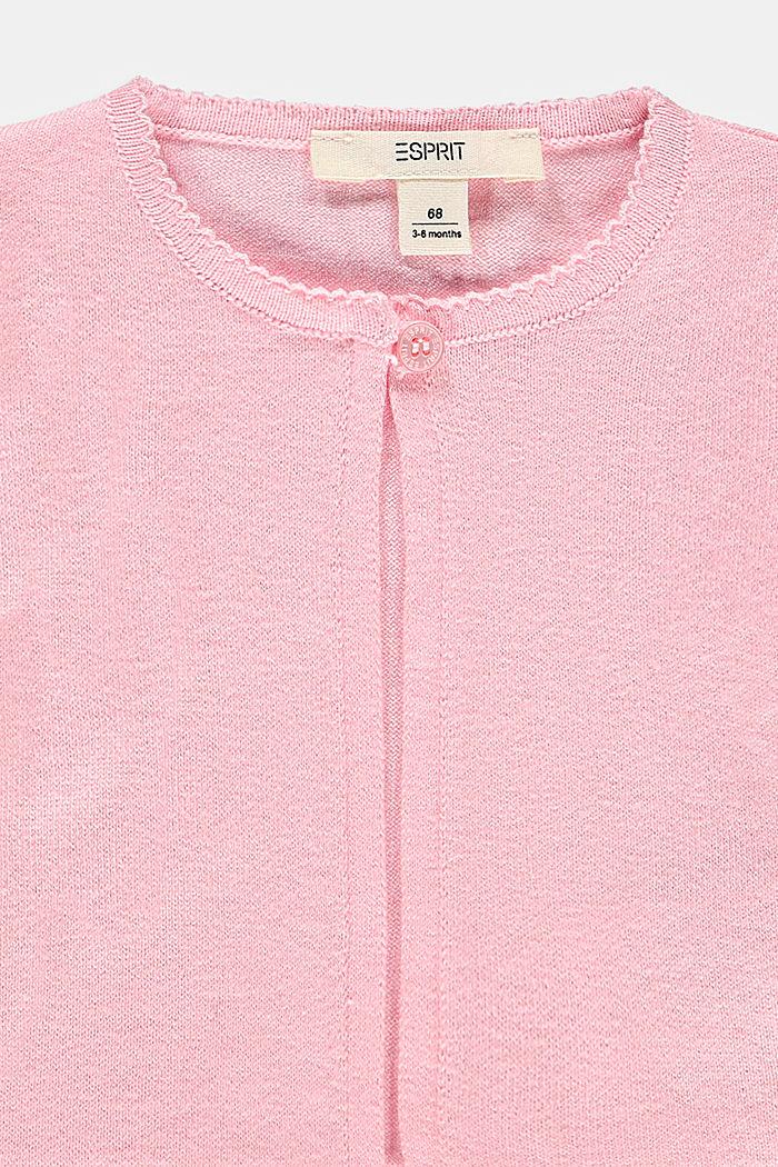 Cardigan made of 100% organic cotton, BLUSH, detail image number 2