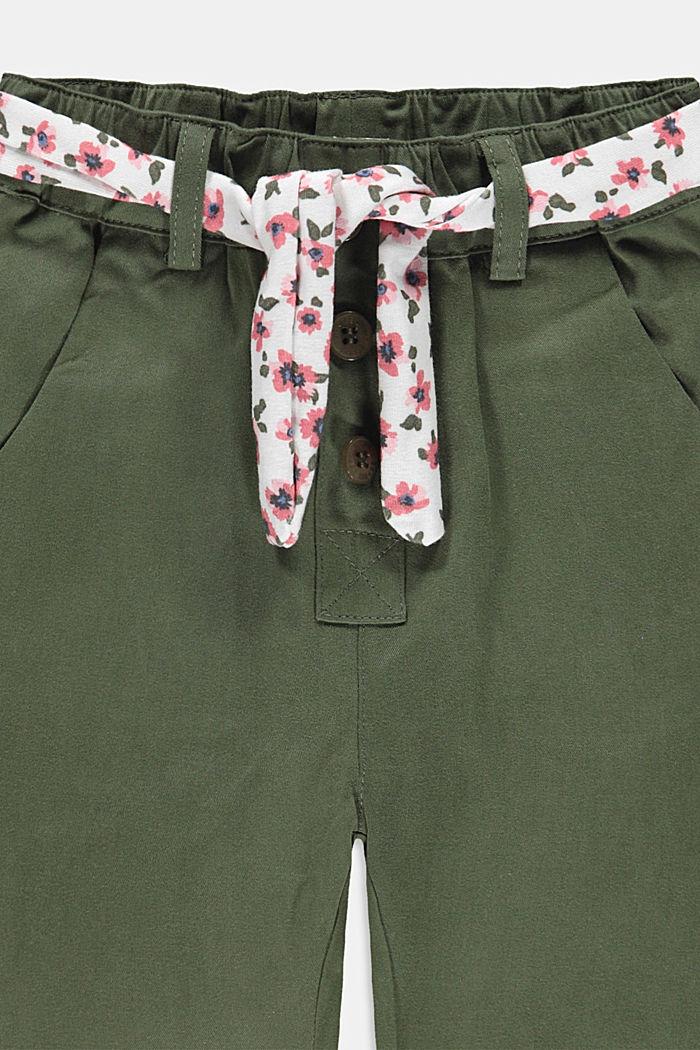 Hose mit Gürtel und Gummibund, DARK KHAKI, detail image number 2