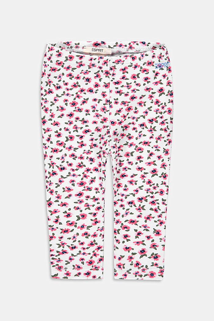 Leggings with floral print, organic cotton
