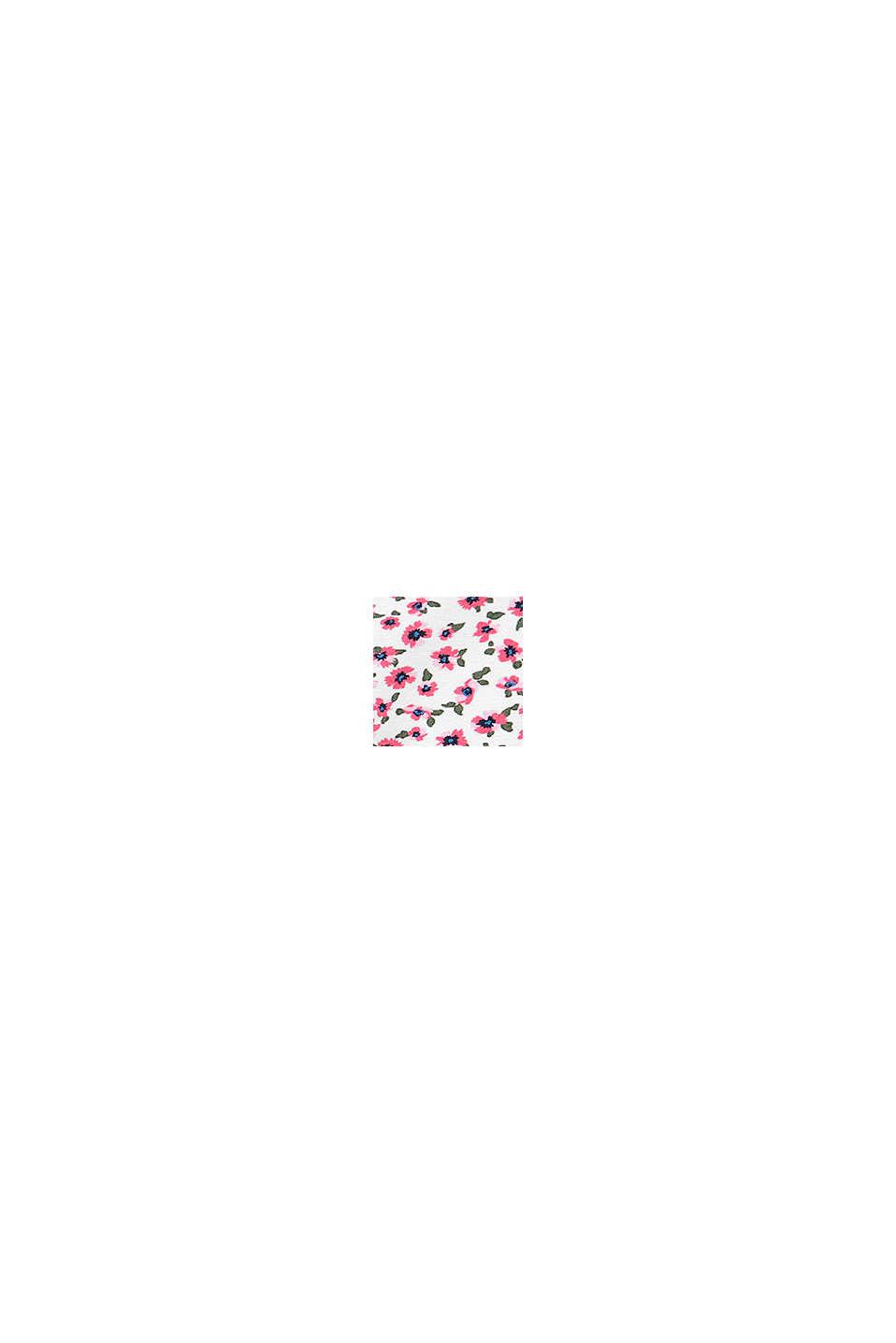 Leggings med blomsterprint, økologisk bomuld, WHITE, swatch