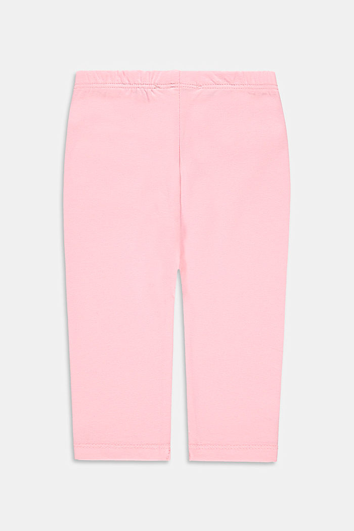 Stretch cotton leggings, BLUSH, detail image number 1