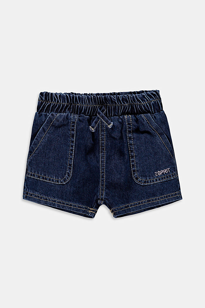 Denim shorts with an elasticated waistband