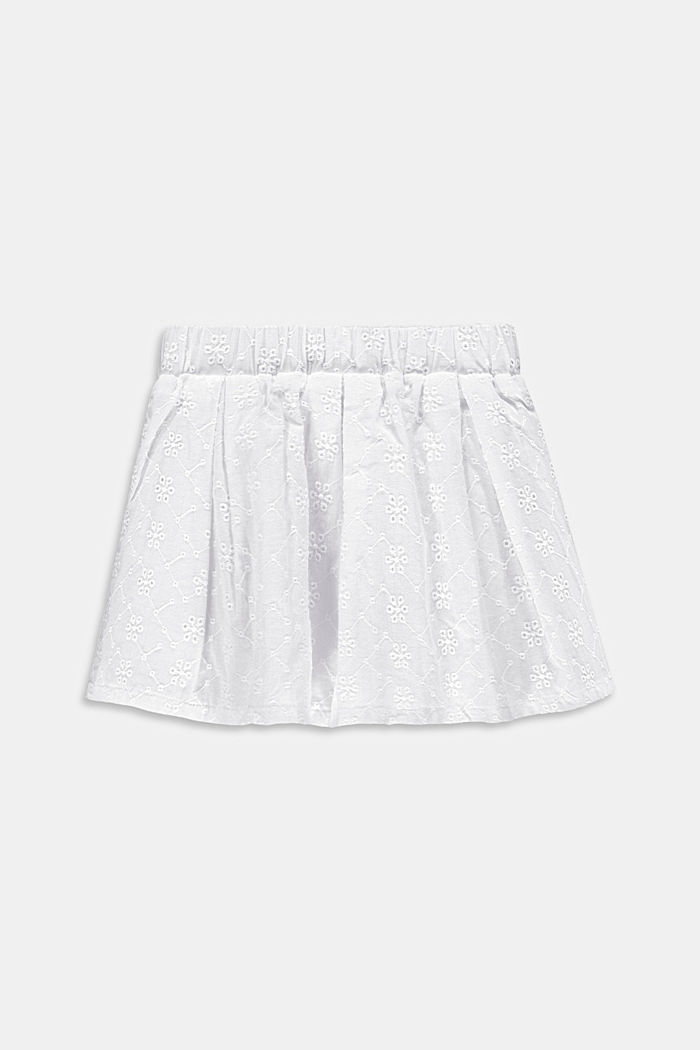 Jupe à broderie anglaise, 100 % coton