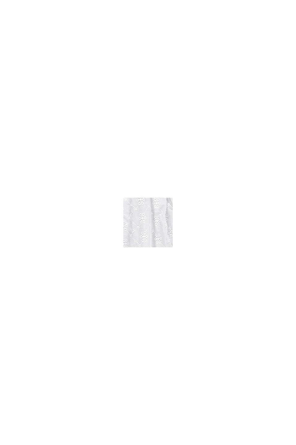 Broderie anglaise detail skirt, 100% cotton, WHITE, swatch