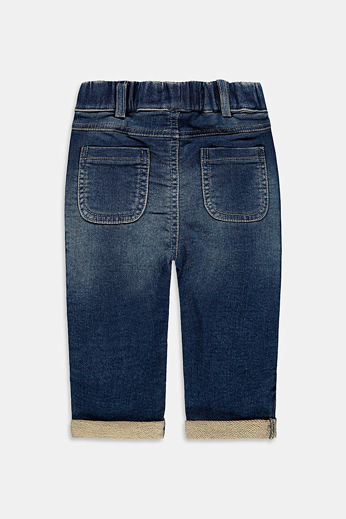 Slip-on jeans made of comfortable tracksuit denim