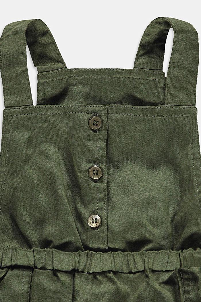 Kleid aus Baumwoll-Stretch, DARK KHAKI, detail image number 2