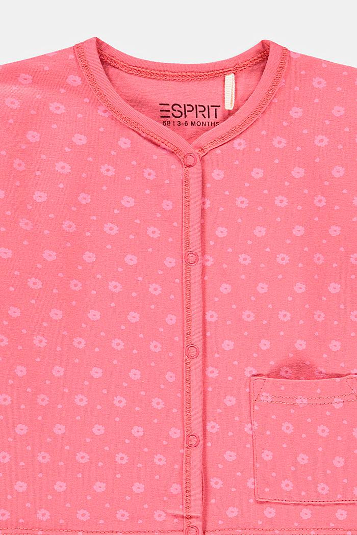 Komplet: bluzka i spodnie, bawełna ekologiczna, CORAL, detail image number 2