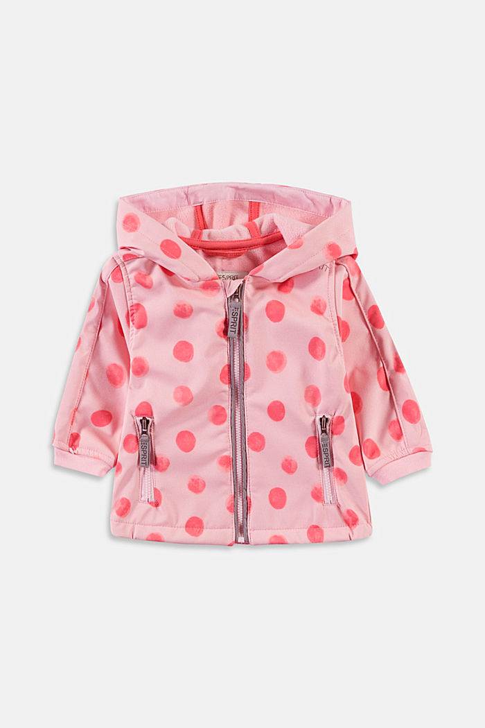Softshell jacket with a polka dot print