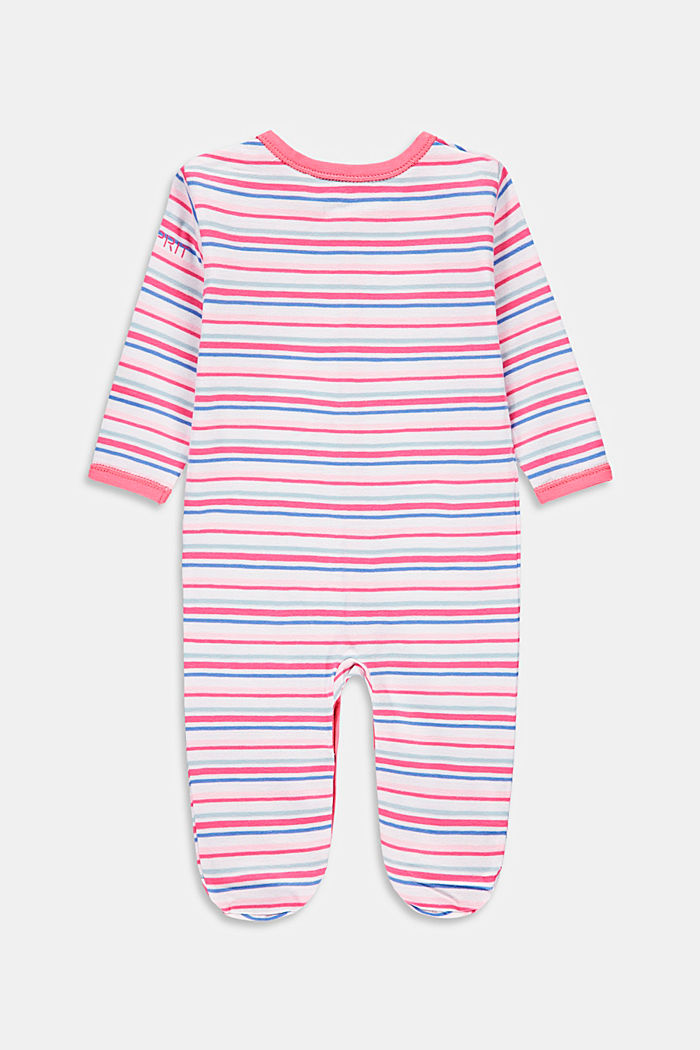 Striped romper suit with organic cotton