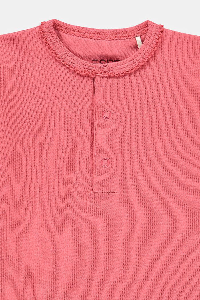Gerippter Body aus 100% Bio-Baumwolle, CORAL, detail image number 2