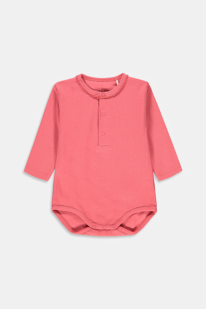 Ribbed bodysuit made of 100% organic cotton