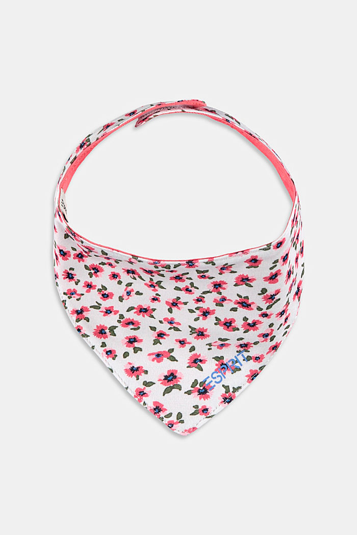 Scarf with a floral print, organic cotton
