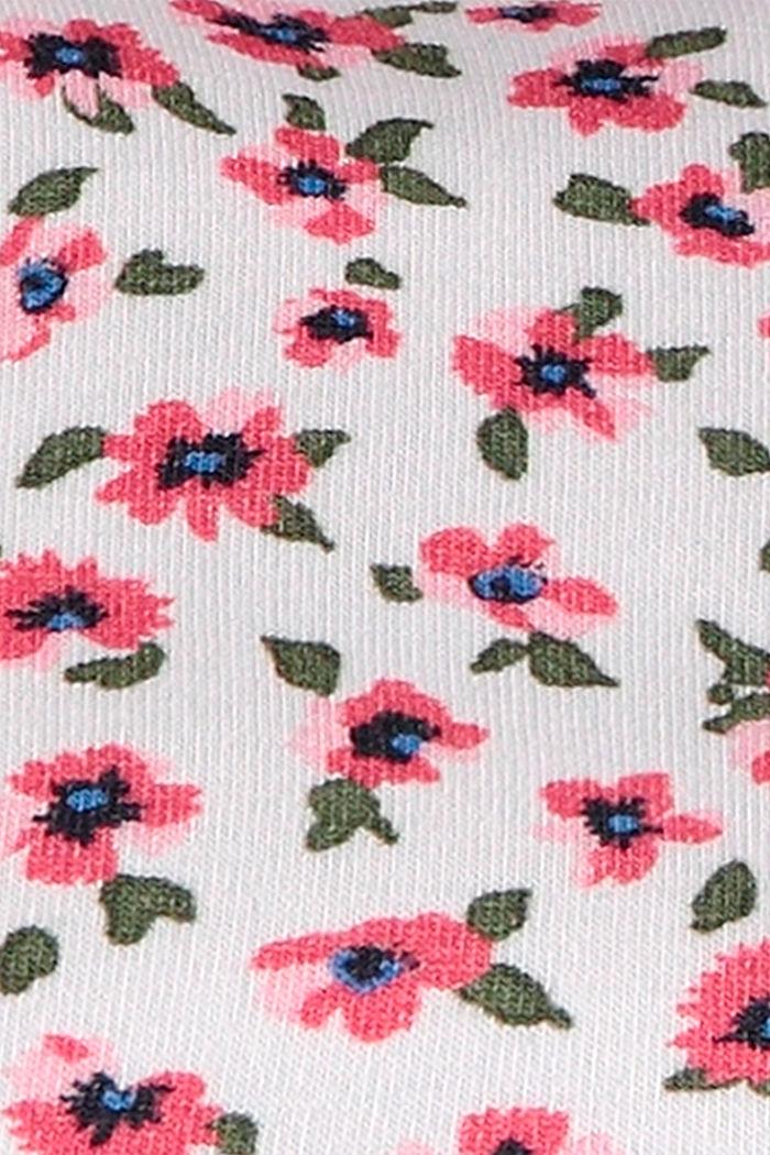 Halstuch mit Blumen-Print, Bio-Baumwolle, WHITE, detail image number 2