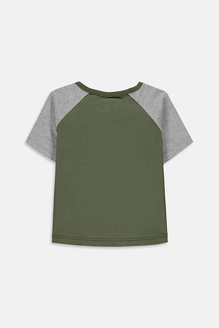 College style T-shirt containing organic cotton, DARK KHAKI, detail image number 1
