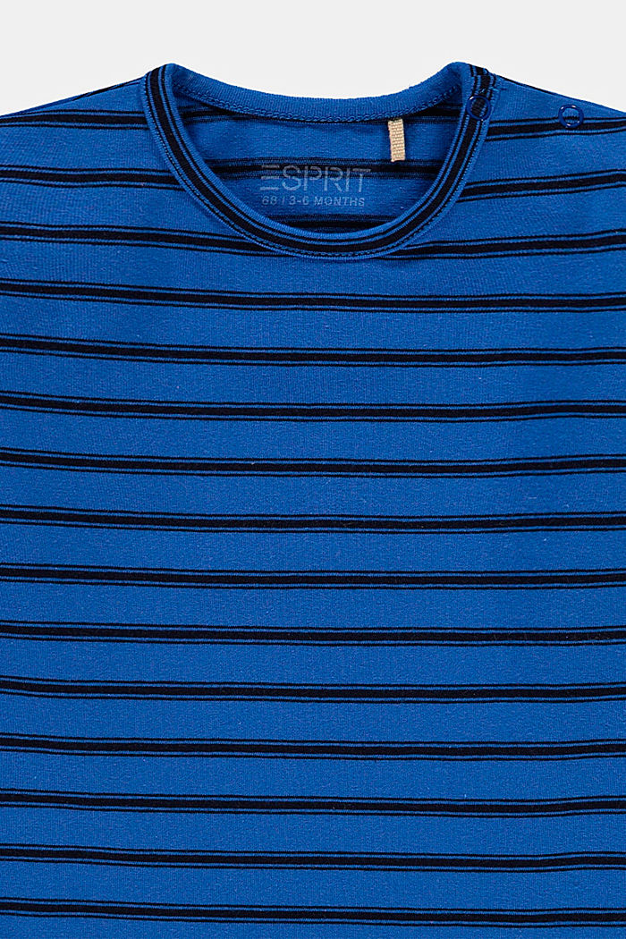 Embroidered, striped long sleeve top in organic cotton, BLUE, detail image number 2