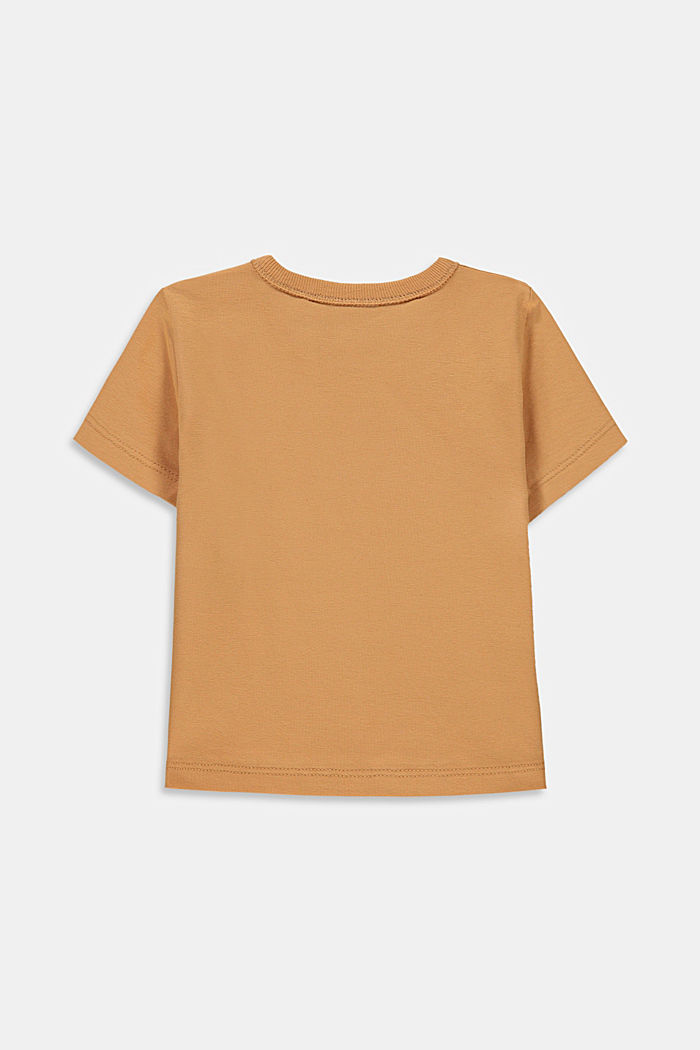 Print T-shirt with organic cotton, CARAMEL, detail image number 1