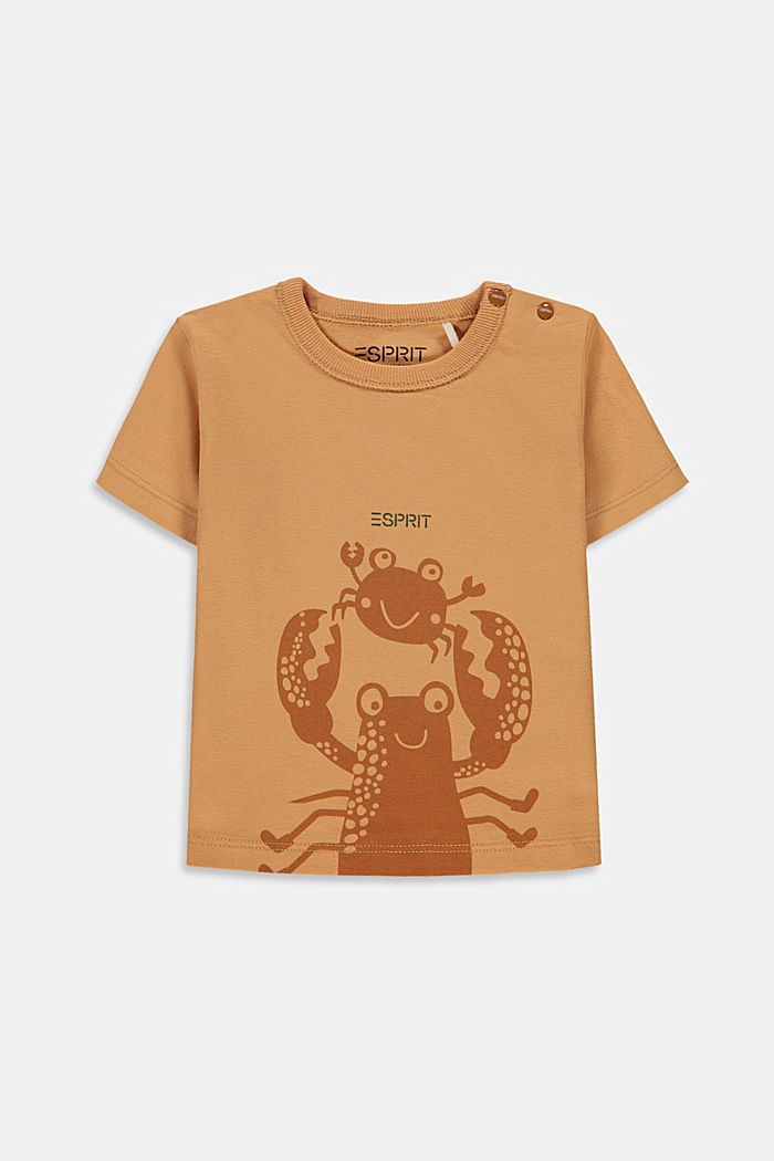 Print T-shirt with organic cotton, CARAMEL, detail image number 0