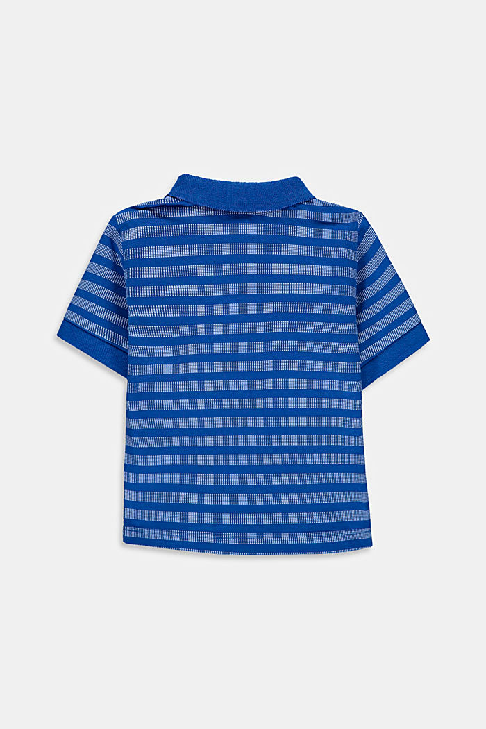 Striped jersey polo shirt with organic cotton