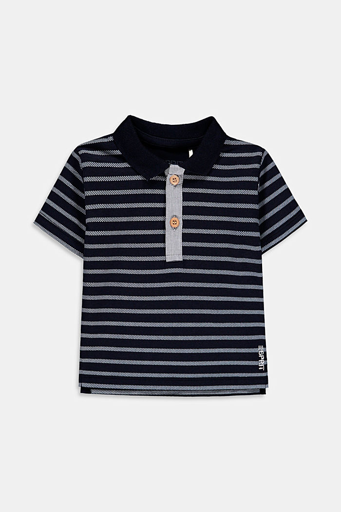 Jersey polo shirt made of stretch organic cotton