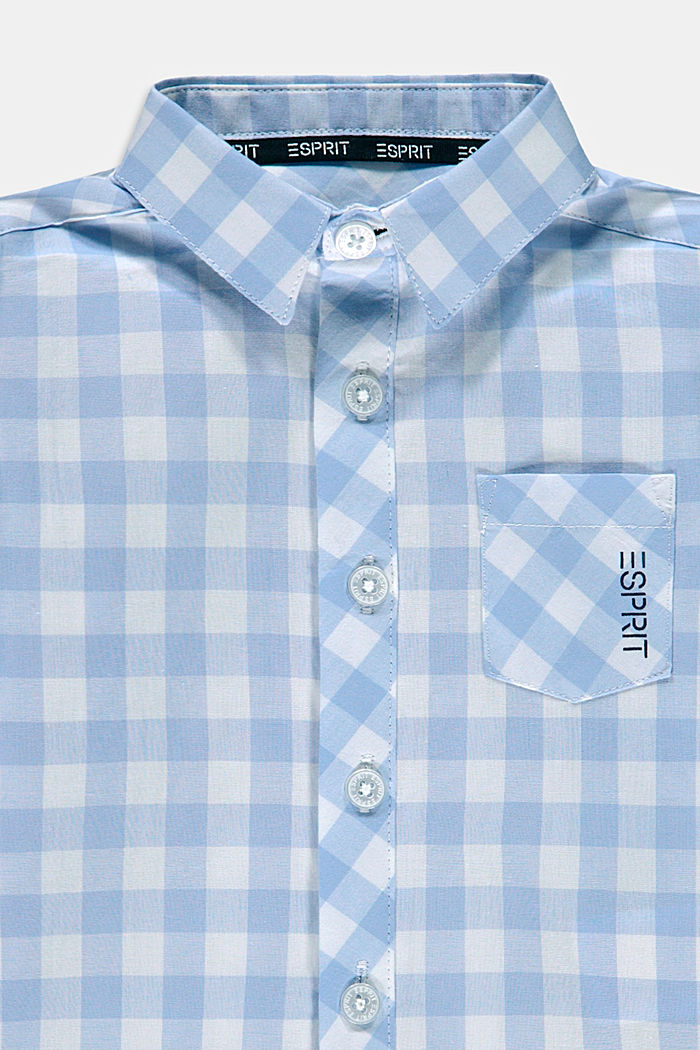 Shirt with gingham checks, 100% cotton, PASTEL BLUE, detail image number 2