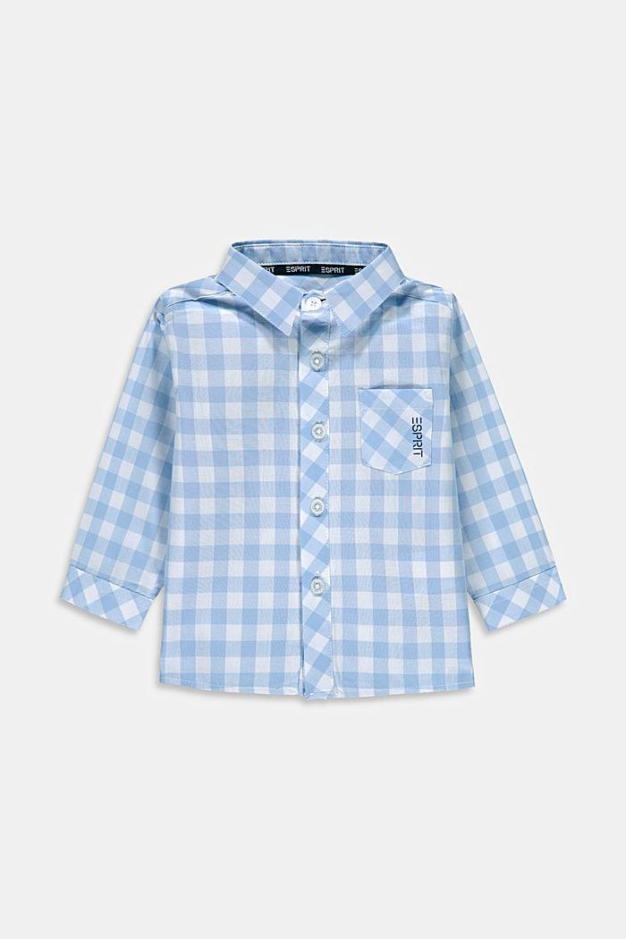 Shirt with gingham checks, 100% cotton