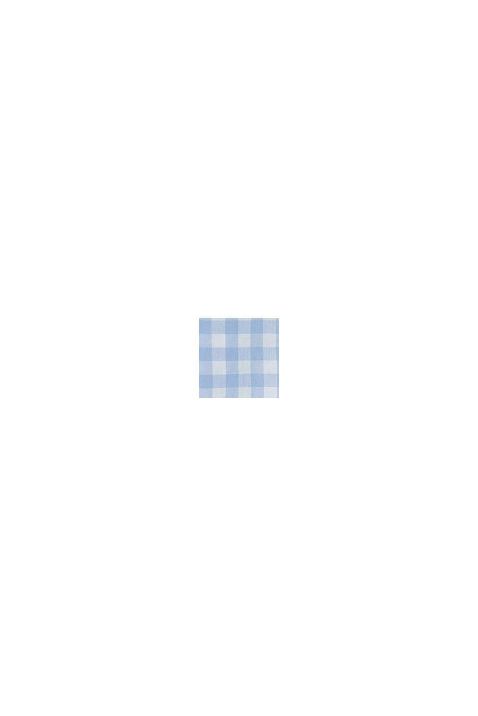 Shirt with gingham checks, 100% cotton, PASTEL BLUE, swatch