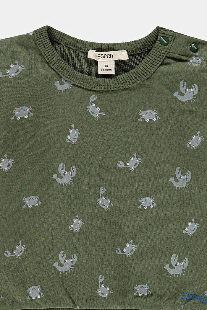 Print sweatshirt, 100% organic cotton, DARK KHAKI, detail image number 2
