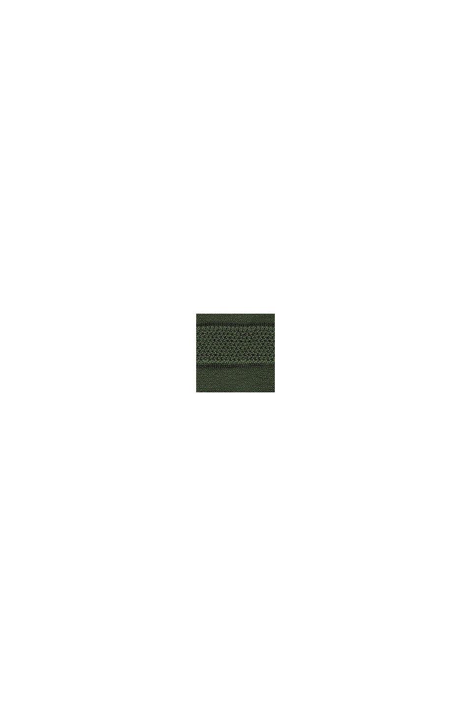 Zipp-Cardigan mit Streifen-Struktur, DARK KHAKI, swatch