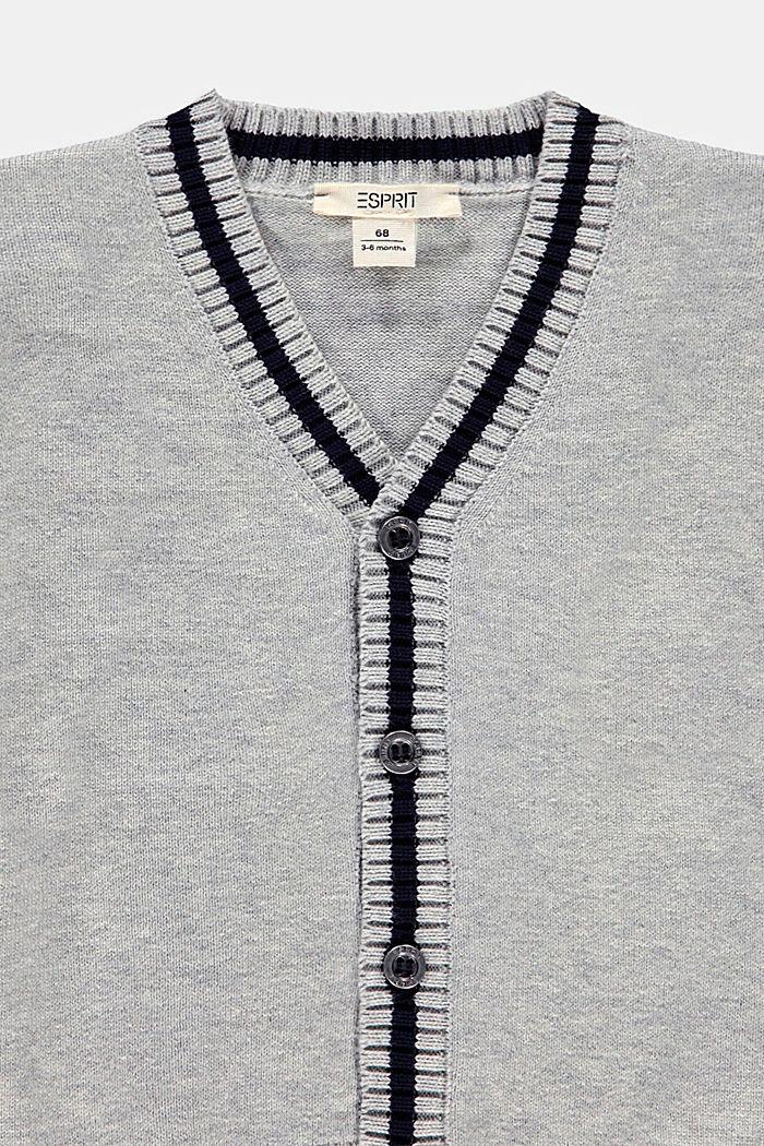 Cardigan aus 100% Bio-Baumwolle, MEDIUM GREY, detail image number 2