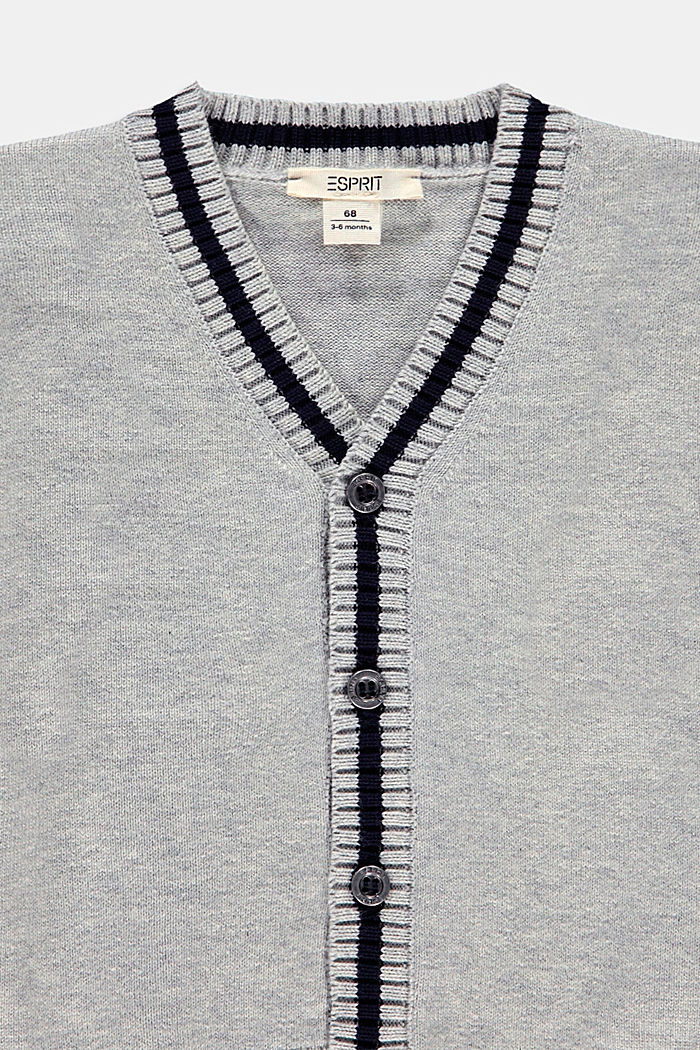 Sweaters cardigan, MEDIUM GREY, detail image number 2