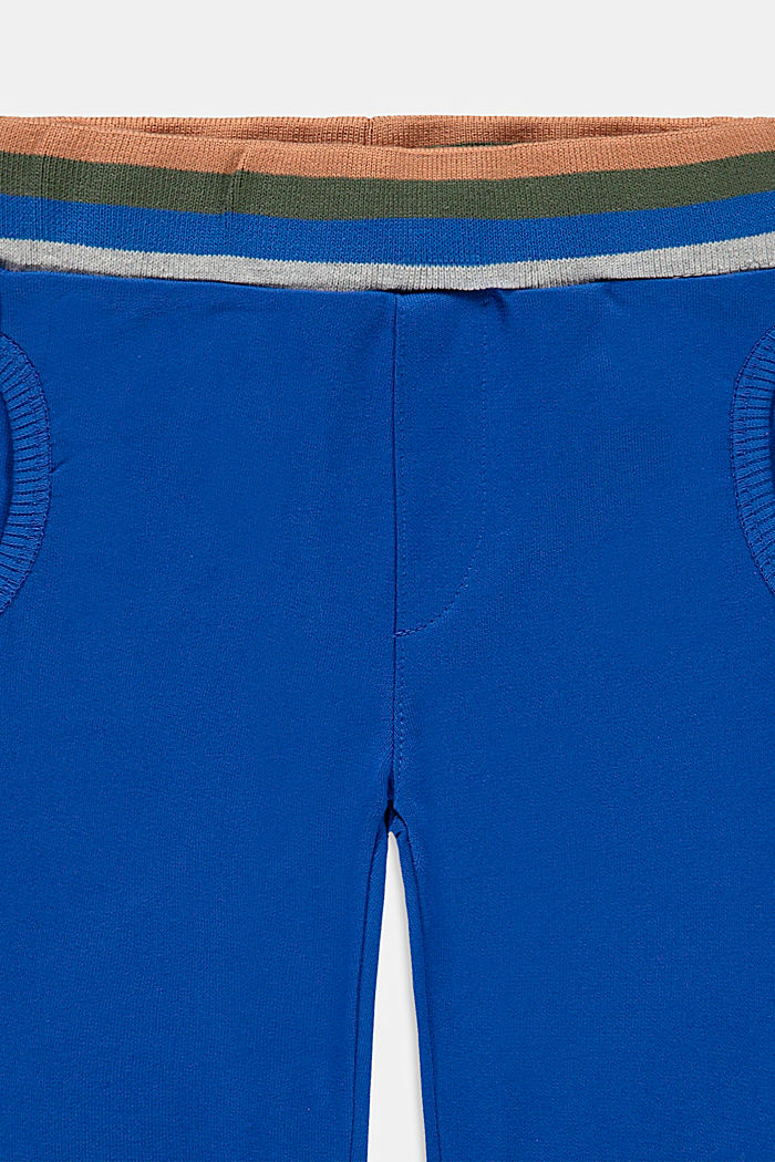 Tracksuit bottoms in 100% organic cotton, BLUE, detail image number 2
