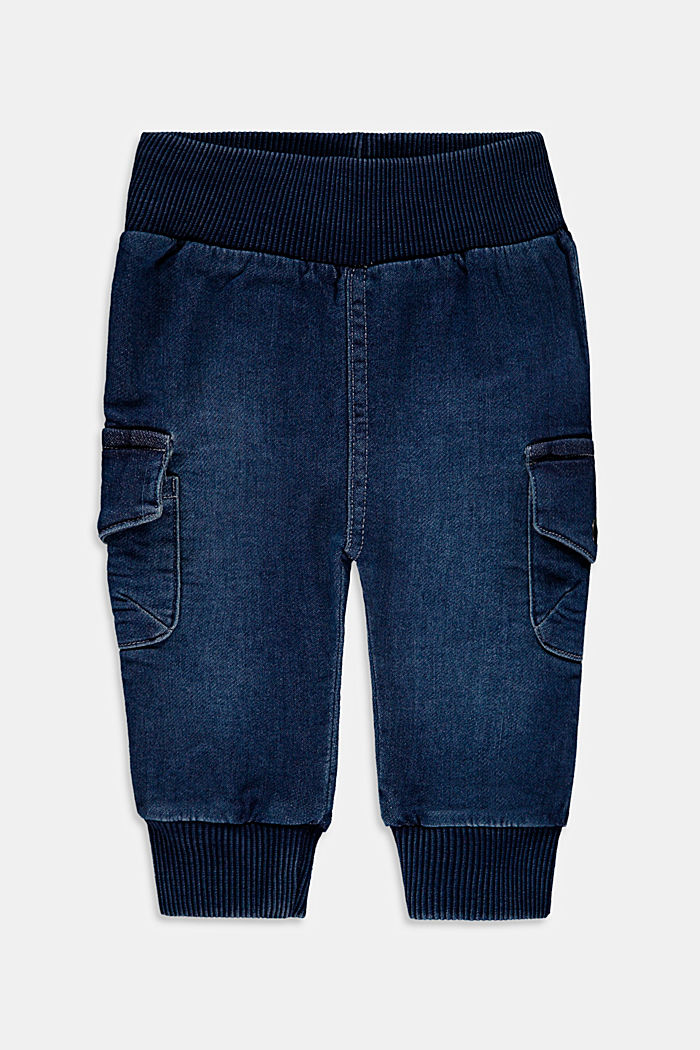 Jeans in comfy tracksuit fabric