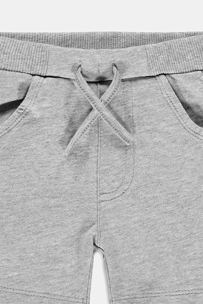 Sweat shorts made of 100% organic cotton, MEDIUM GREY, detail image number 2