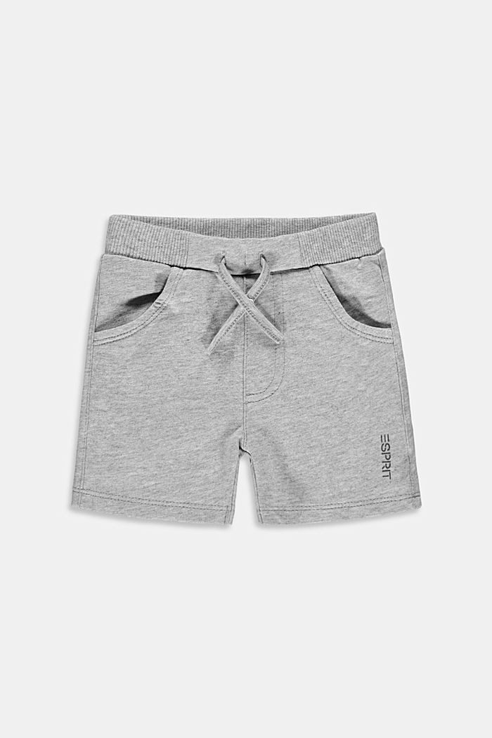 Sweat shorts made of 100% organic cotton, MEDIUM GREY, detail image number 0
