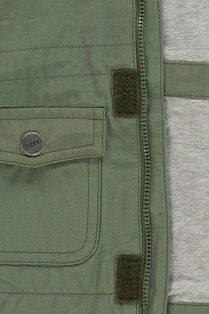 Parka met jersey voering van een katoenmix, DARK KHAKI, detail image number 2