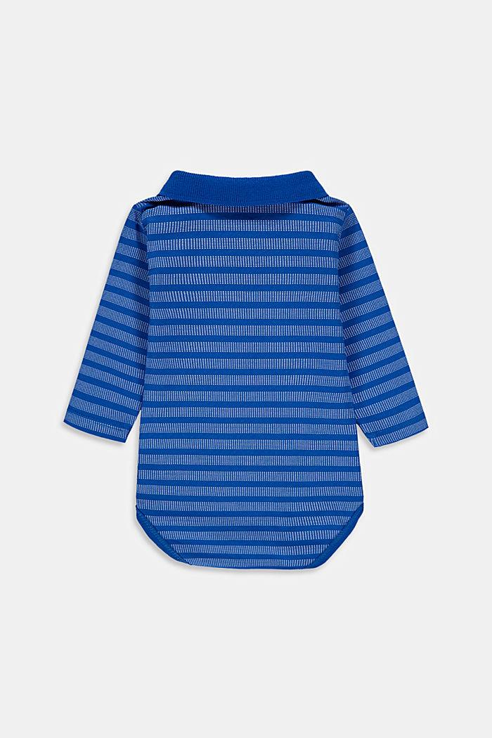 Bodysuit with polo collar, organic cotton