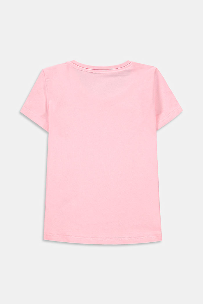 Printed T-shirt in stretch cotton, BLUSH, detail image number 1