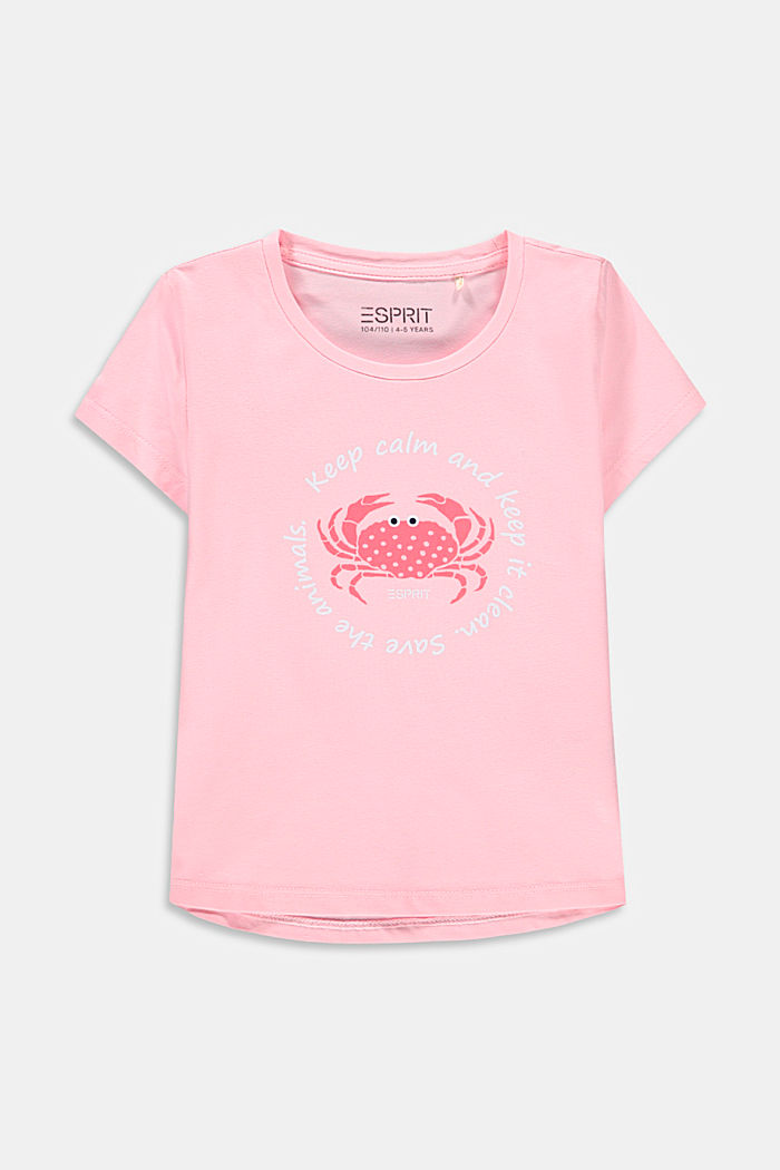 Printed T-shirt in stretch cotton, BLUSH, detail image number 0