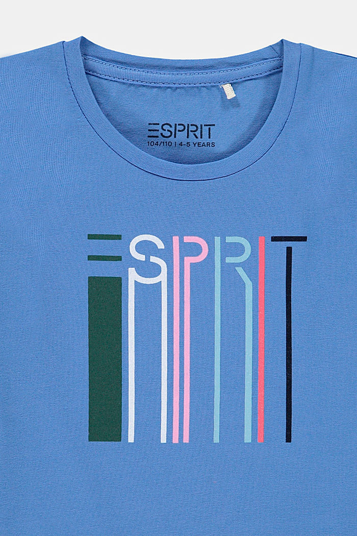 Logo T-shirt made of stretch cotton, LIGHT BLUE, detail image number 2
