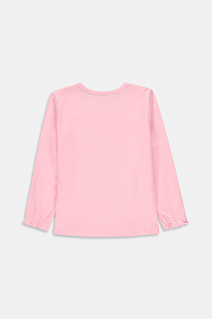 Long sleeve top with a floral print, BLUSH, detail image number 1