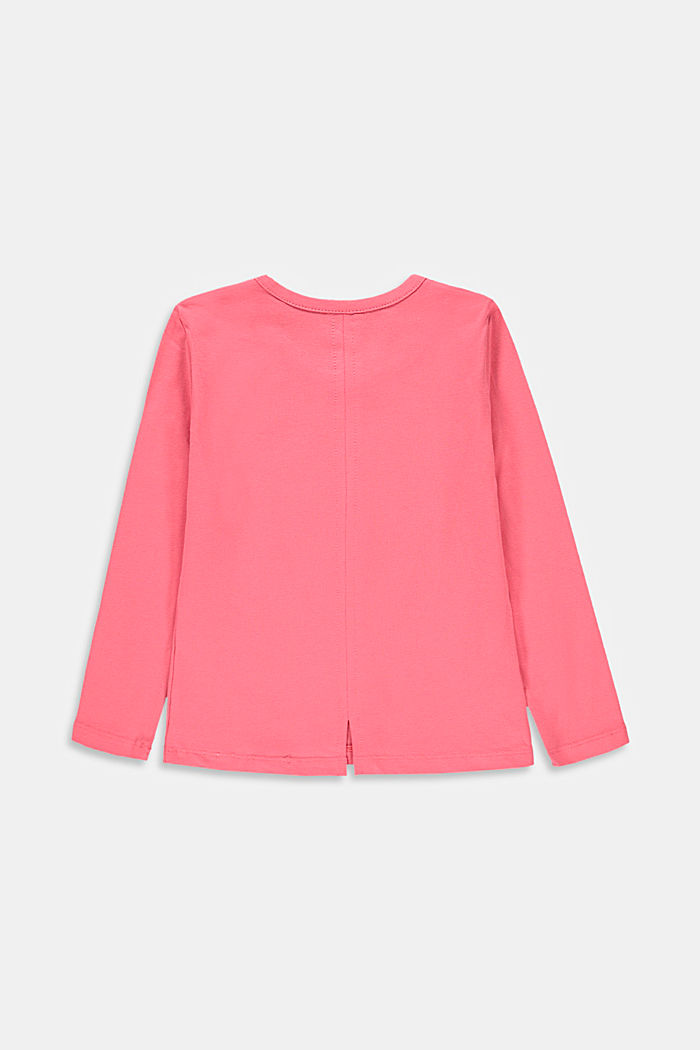 Long sleeve top with a glitter print, CORAL, detail image number 1