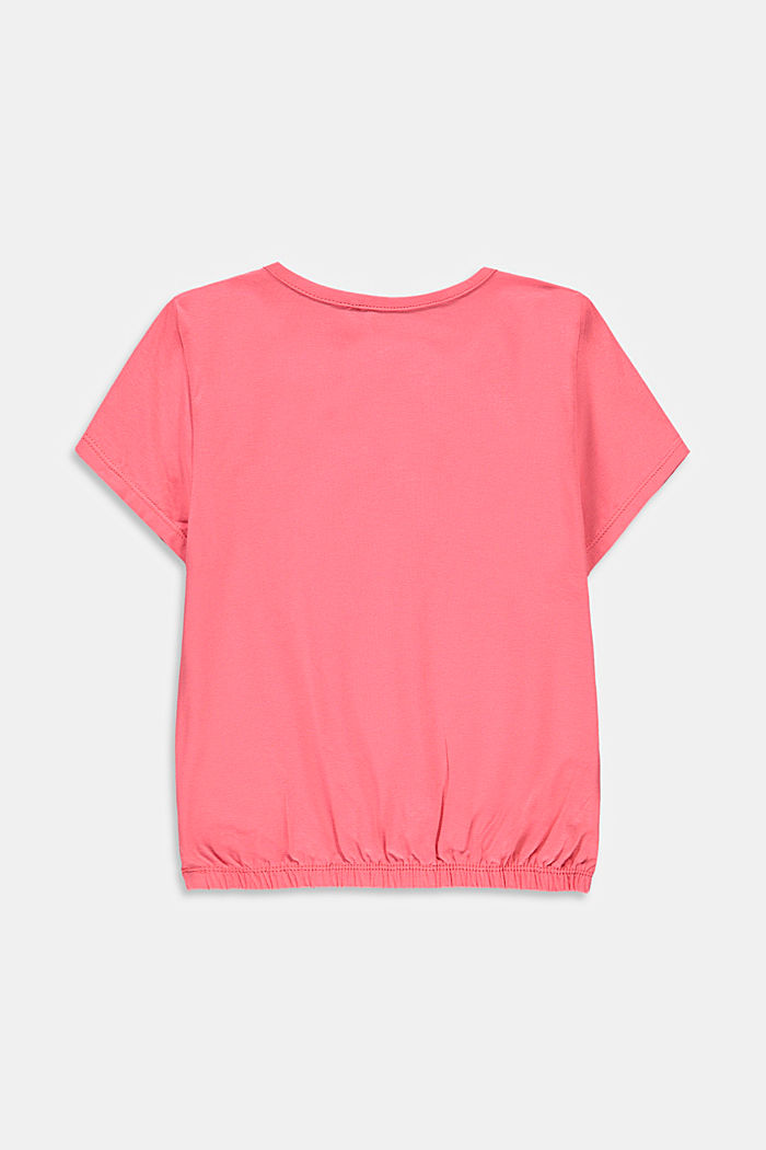 Printed T-shirt with sequins, CORAL, detail image number 1
