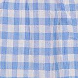 Gingham check blouse with frills, 100% cotton, LIGHT BLUE, swatch