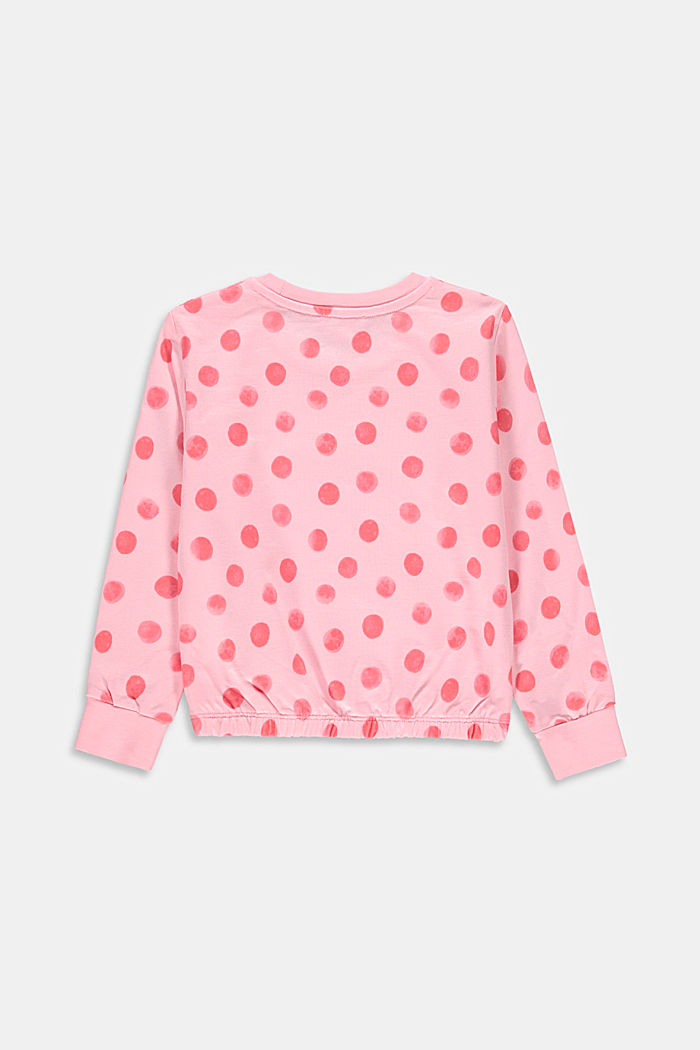 Print sweatshirt, 100% organic cotton, BLUSH, detail image number 1